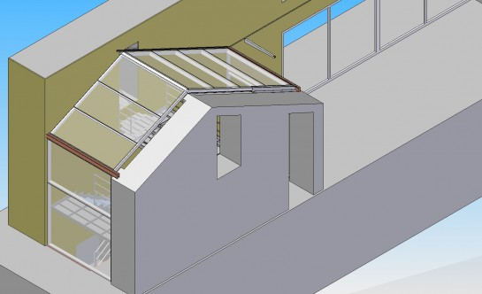 Facciate e coperture in vetro e metallo - Chiusura scale esterne ...